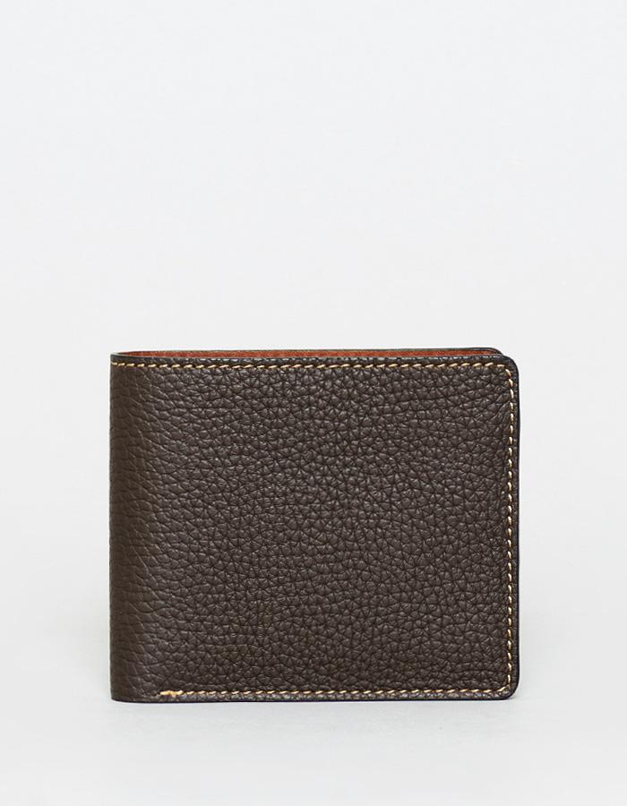 二つ折り財布 ダブルカードタイプ シュリンクレザー