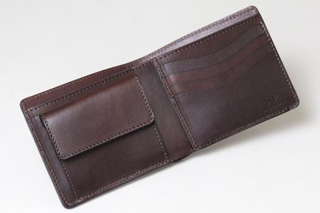 左利き用 二つ折り財布