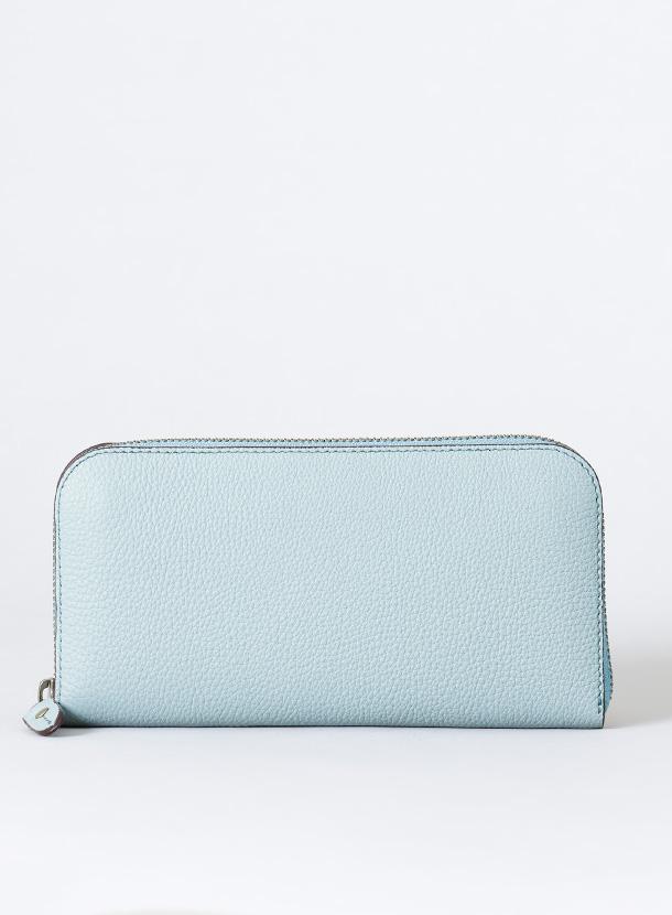 ファスナー長財布 丸型1cm高タイプ(仕切り・カード部分・コインマチ追加)シュランケンカーフ
