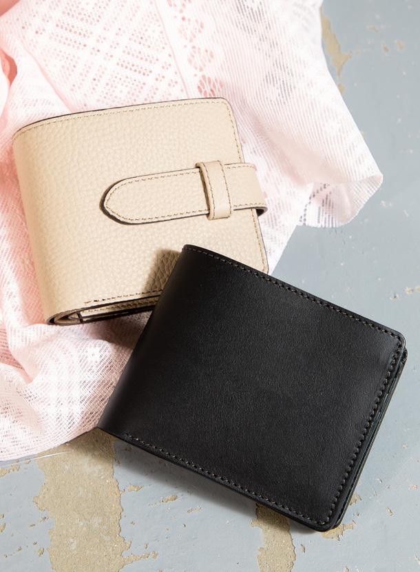 二つ折り財布(トリプルカード)標準タイプ、 差し込みベルトタイプ